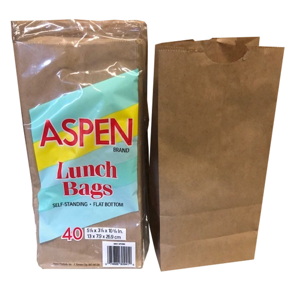 Aspen Products Kraft 40 Count Paper Lunch Bag 35940