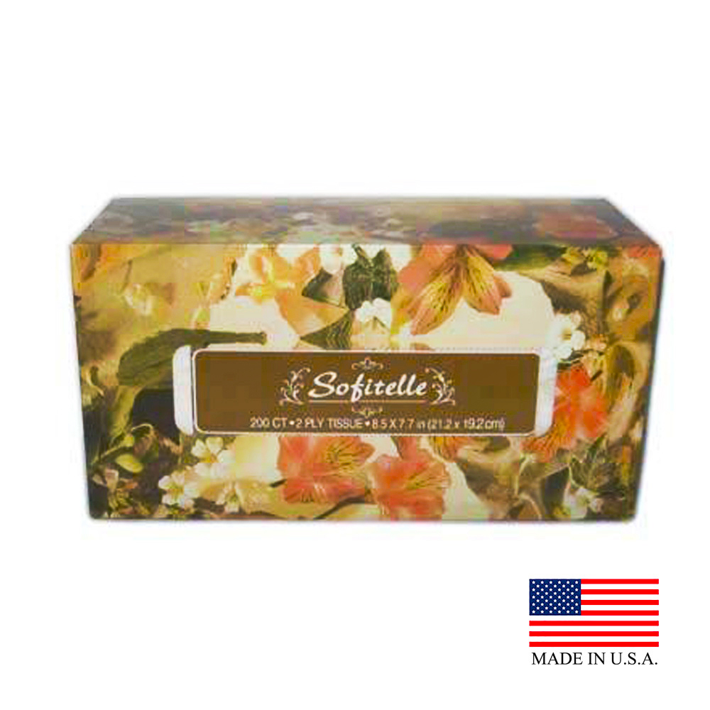 US Alliance White 2ply 200 Count Sofitelle Facial Tissues 30250