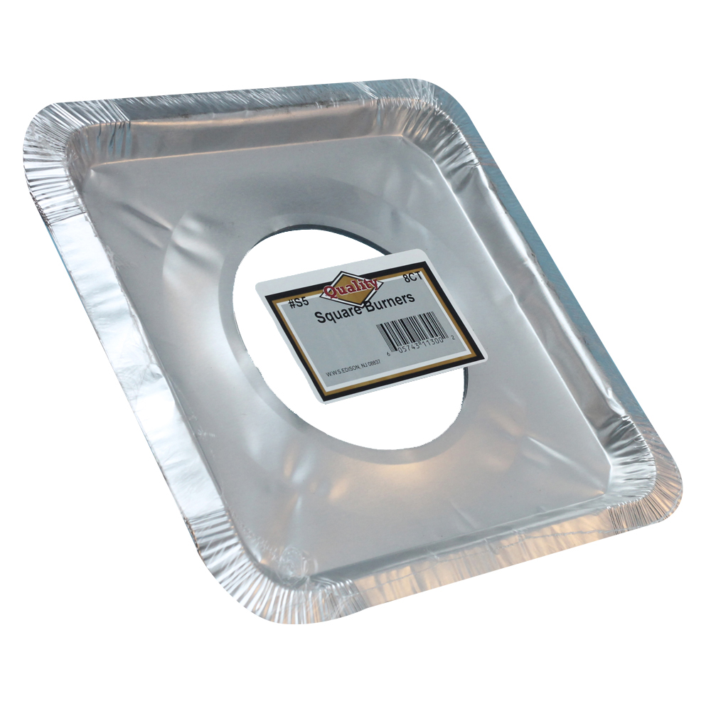 Convenience Packs Aluminum Square Burner Bib SQUARE