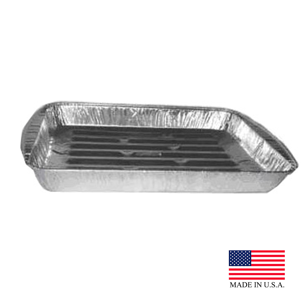 Durable Inc. - Aluminum Standard Oblong Broiler   Pan B3000