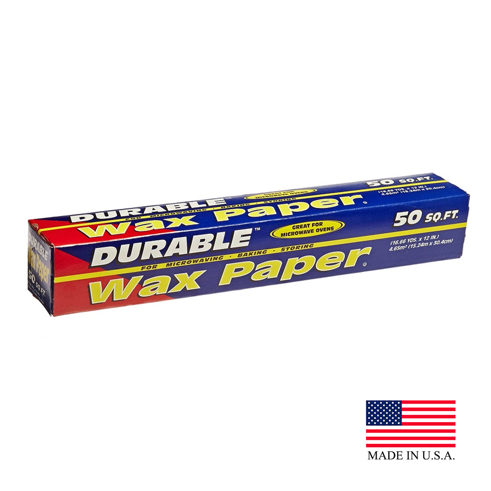 "Durable 12""x50' Deli Wax Paper HWAX50"