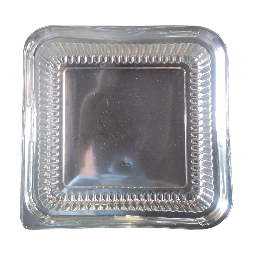 "Clear 8"" Square Plastic Dome Lid 6404801-APF88DL"