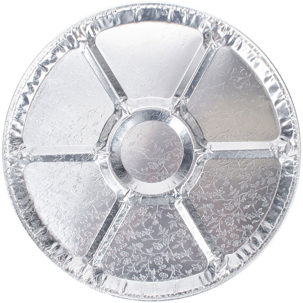 "Durable Inc. - Aluminum 18"" Round Lazy Susan Catering Tray GBJRC018L/A06"