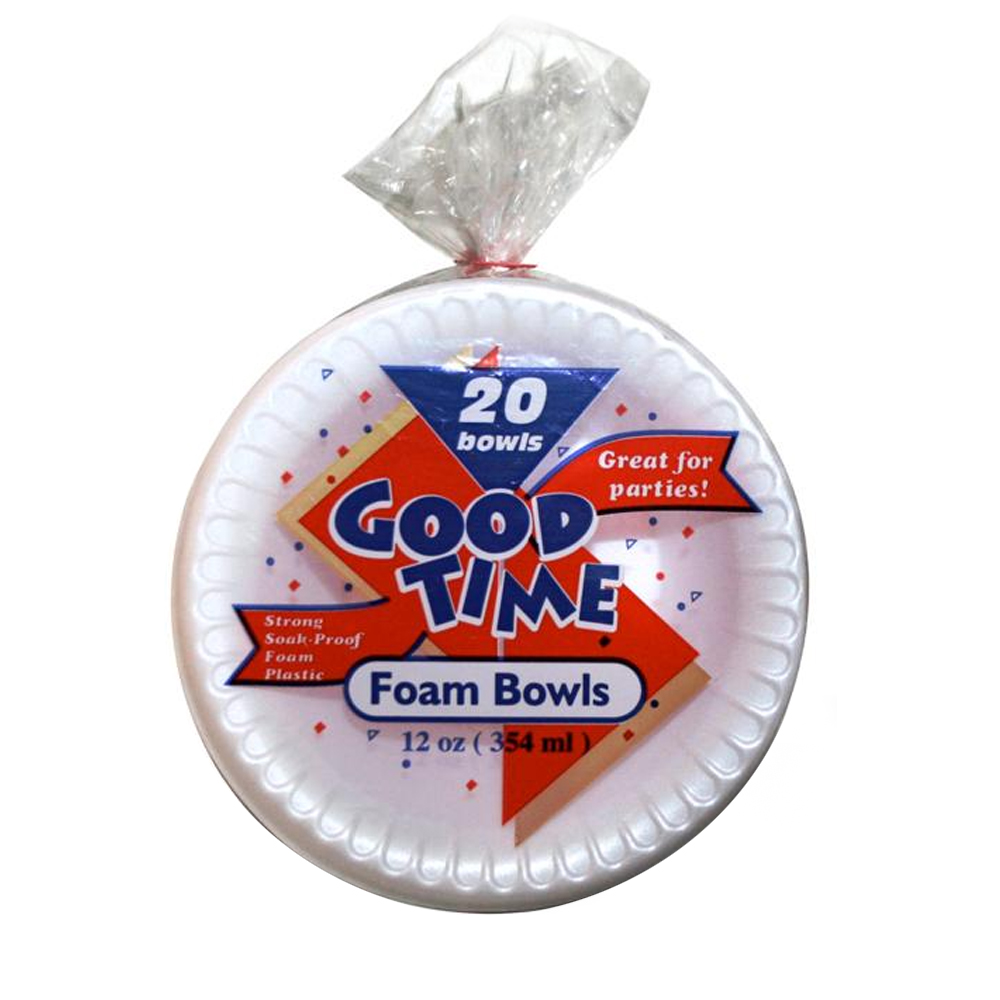 DA Intl White 12oz Good Time Foam Bowl 42833