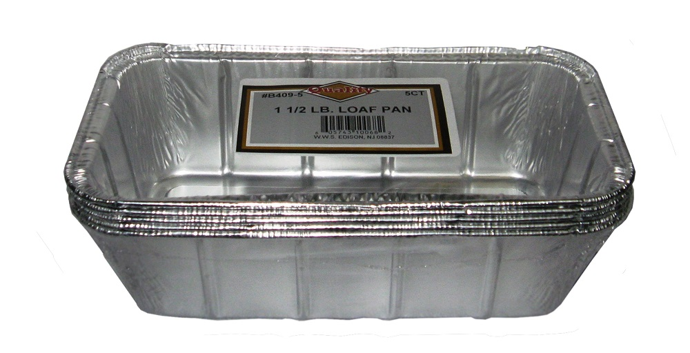 Convenience Packs - Aluminum 1.5 lb. 5 Pack Loaf PanB409-55