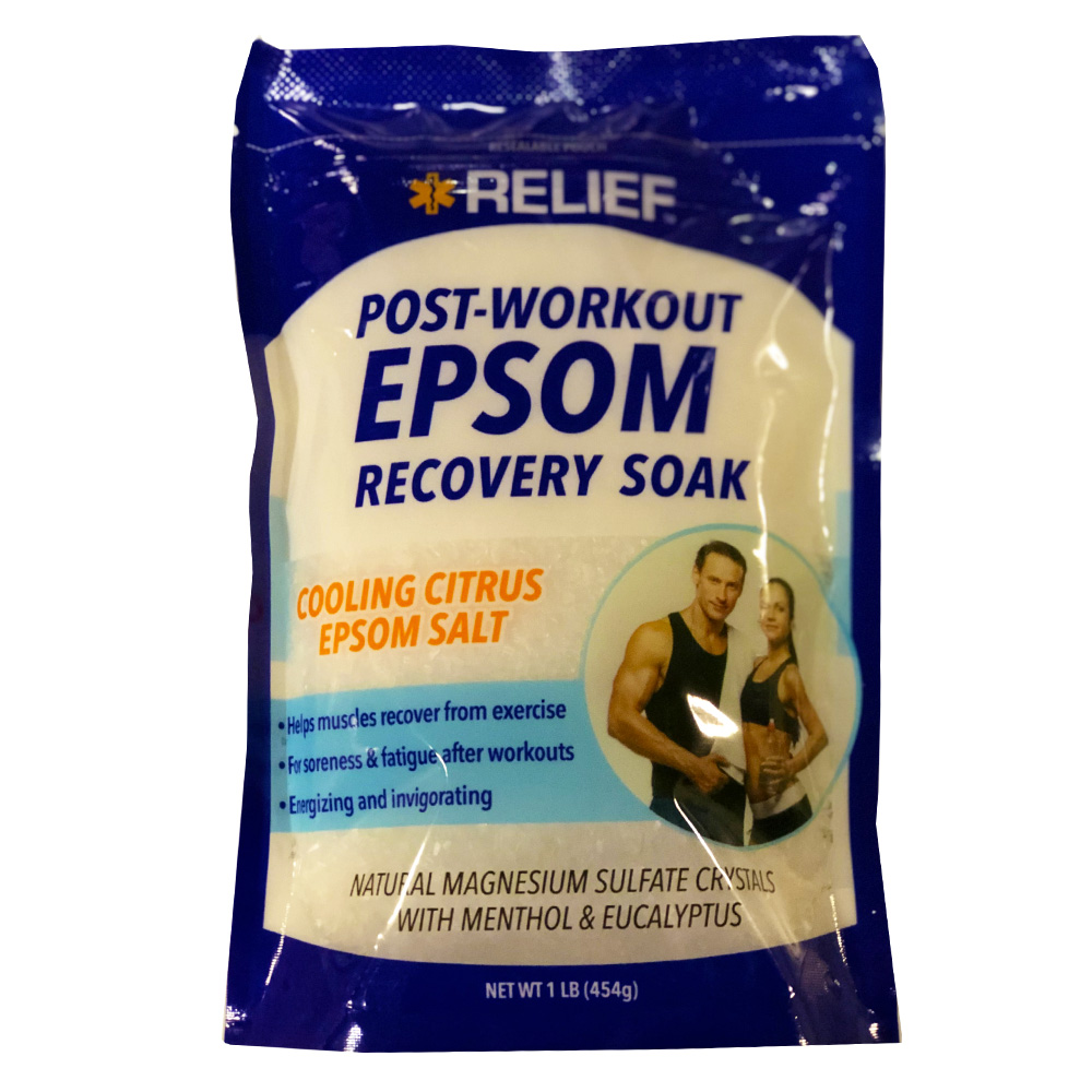 Blue Cross Labs - Relief 1 lb. Post Work Out Epsom Recovery Soak 955-3
