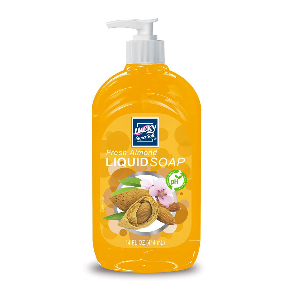 Delta Brands 14oz Lucky Super Soft Almond Liquid Soap 3207-12