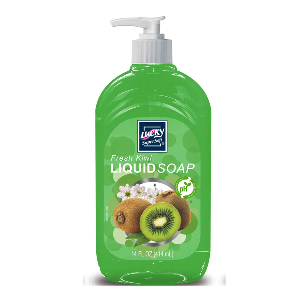 Delta Brands - Lucky Super Soft 14 oz. Fresh Kiwi Liquid Pump Hand Soap 3205-12