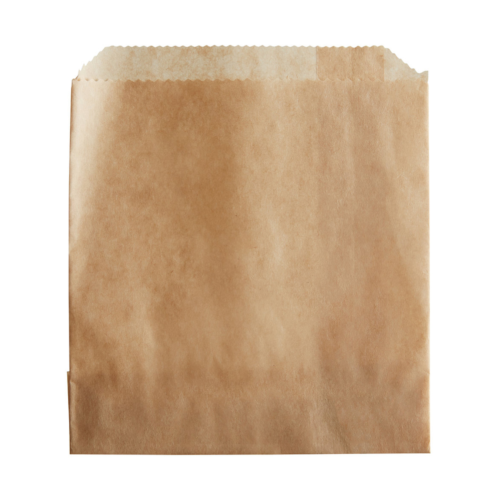 "Zenith Specialty Natural 4.5""x2.5""x3.5"" Paper     French Fry Bag A-4"