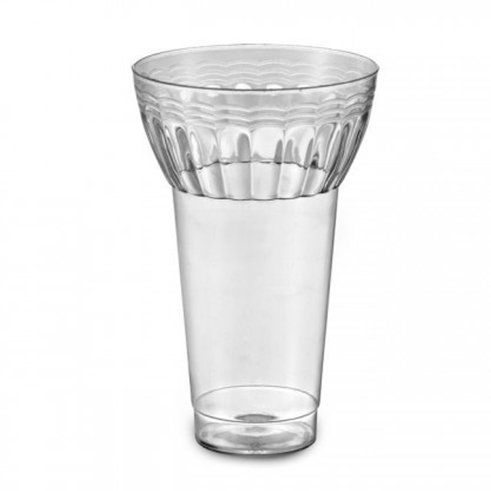 EMI Yoshi Inc. - Resposables Clear 12 oz. Plastic Parfait Glass EMI-REPG12