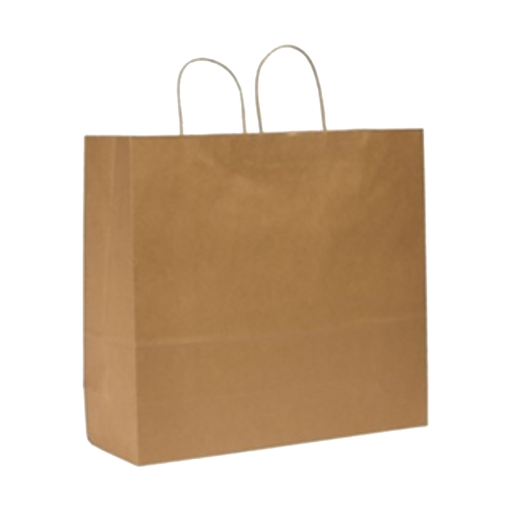 "Duro Bag Mfg. - Kraft 16""x6""x19"" Paper Downtown Shopping Bag 87130"