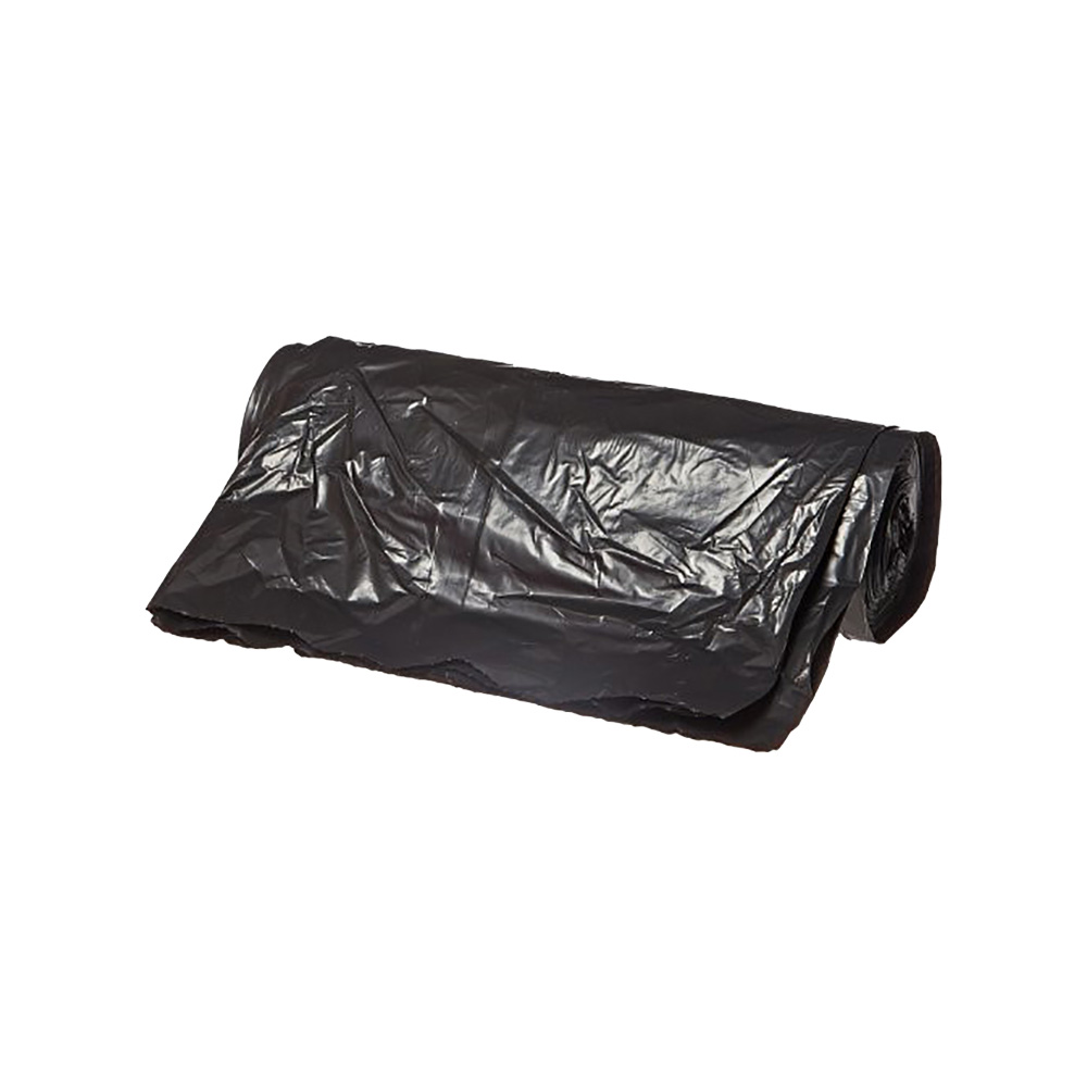 "Berry Plastics Black 12-16 Gallon 24""x32"" 0.3 Mil Can Liner PGR2432XB"
