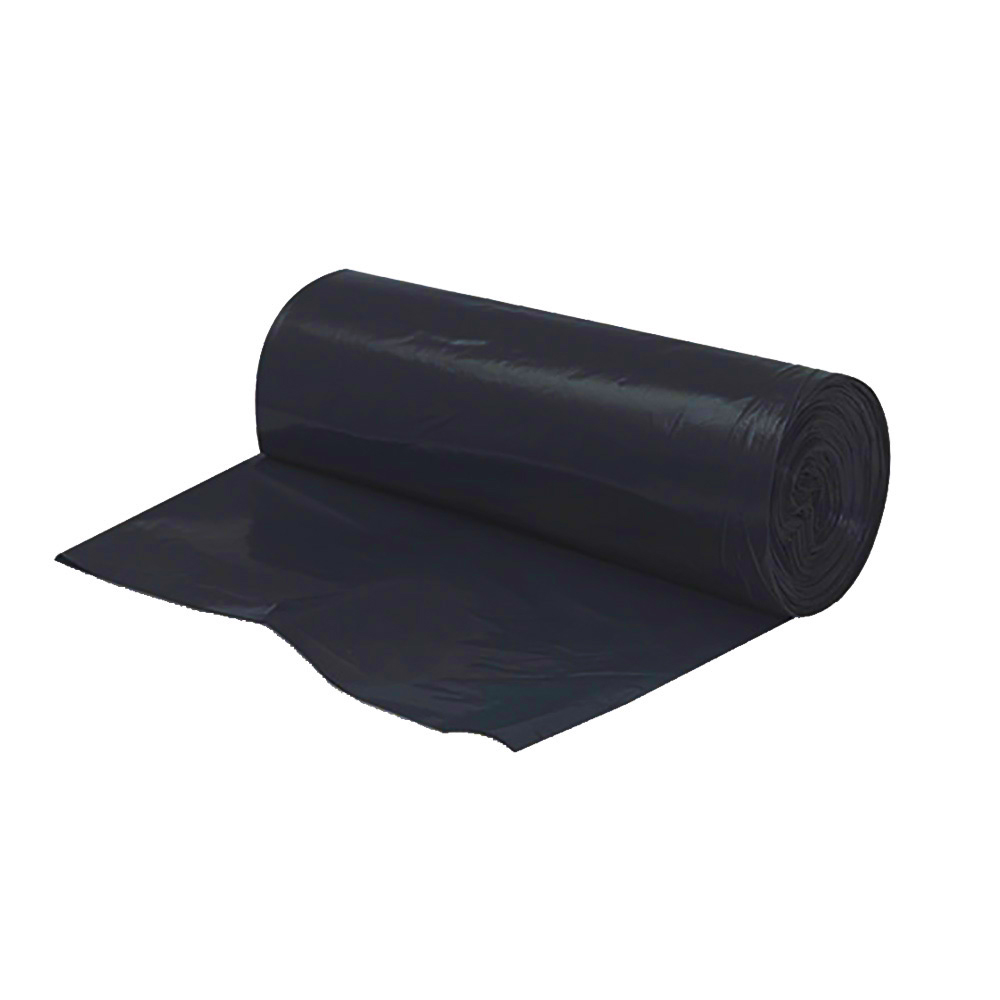 "Berry Plastics Black 40-45 Gallon 40""x46"" 10 Micron Liner On A Roll VLH4048-12B"