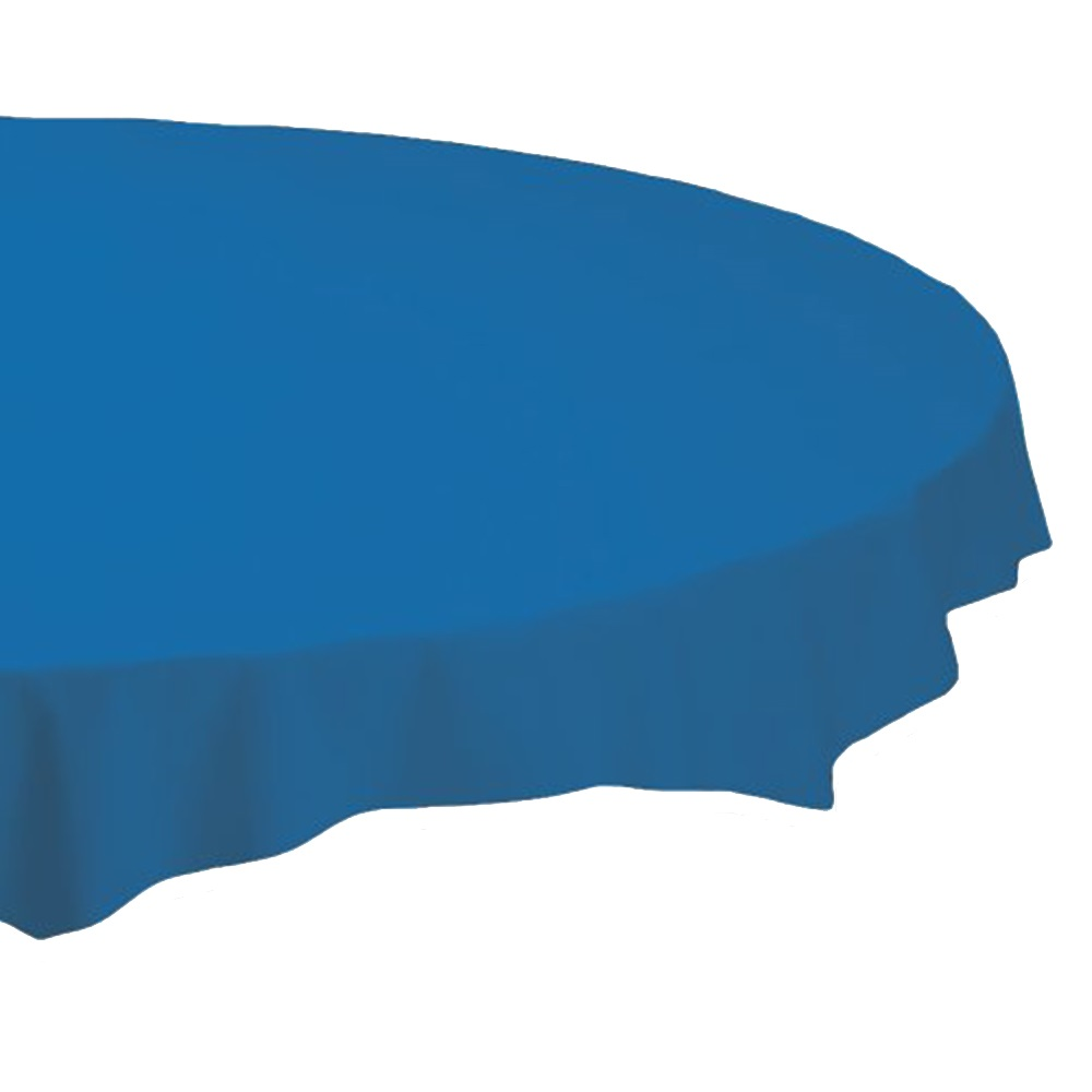 "Hoffmaster Blue 82"" Round Table Cover 112014"
