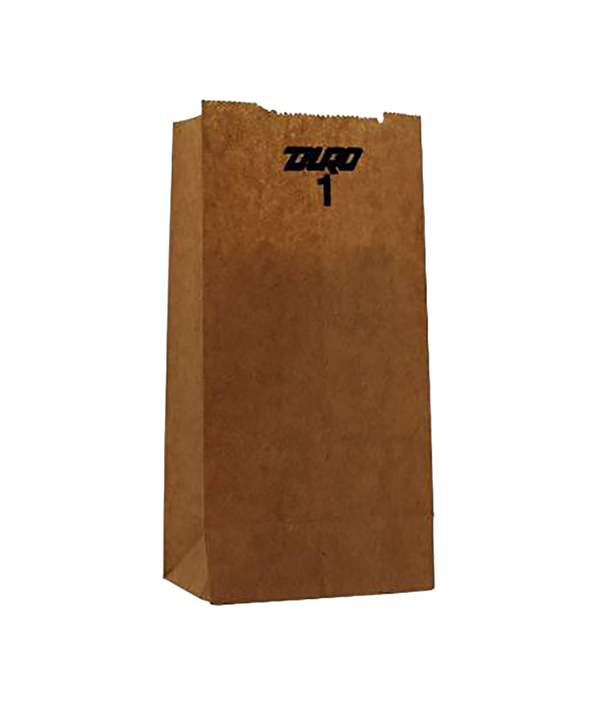 Duro Bag Kraft 1lb Recycled Paper Grocery Bag 18401