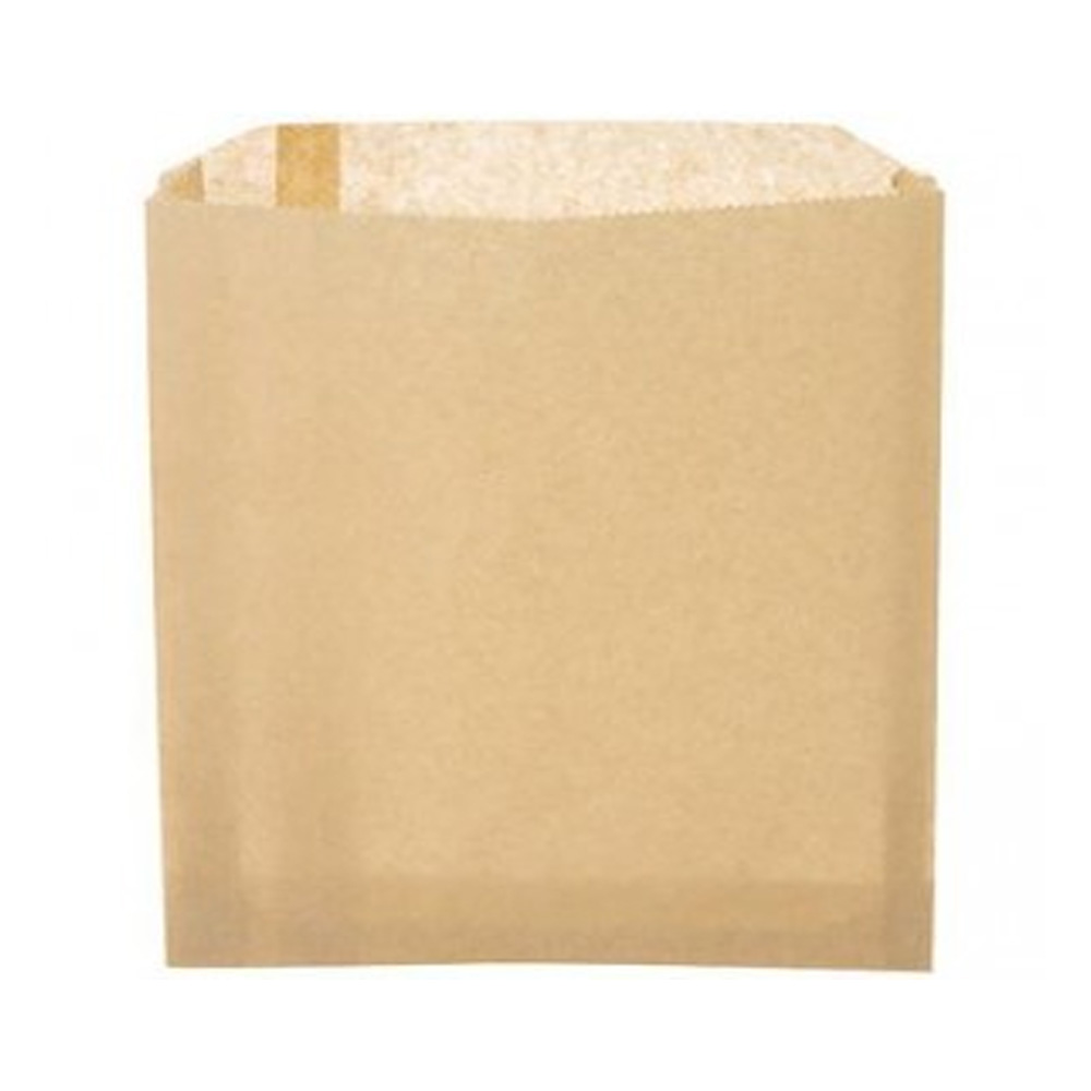 "McNairn Packaging Natural 6""x.75""x6.75"" Grease    Resistant Sandwich Bag 320250"