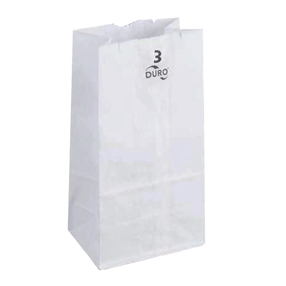 Duro Bag Mfg. - White 3 lb. Wolf Paper Grocery Bag 51003