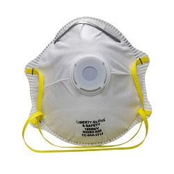White N95 Safety Dust Mask With Respirator Valve   821