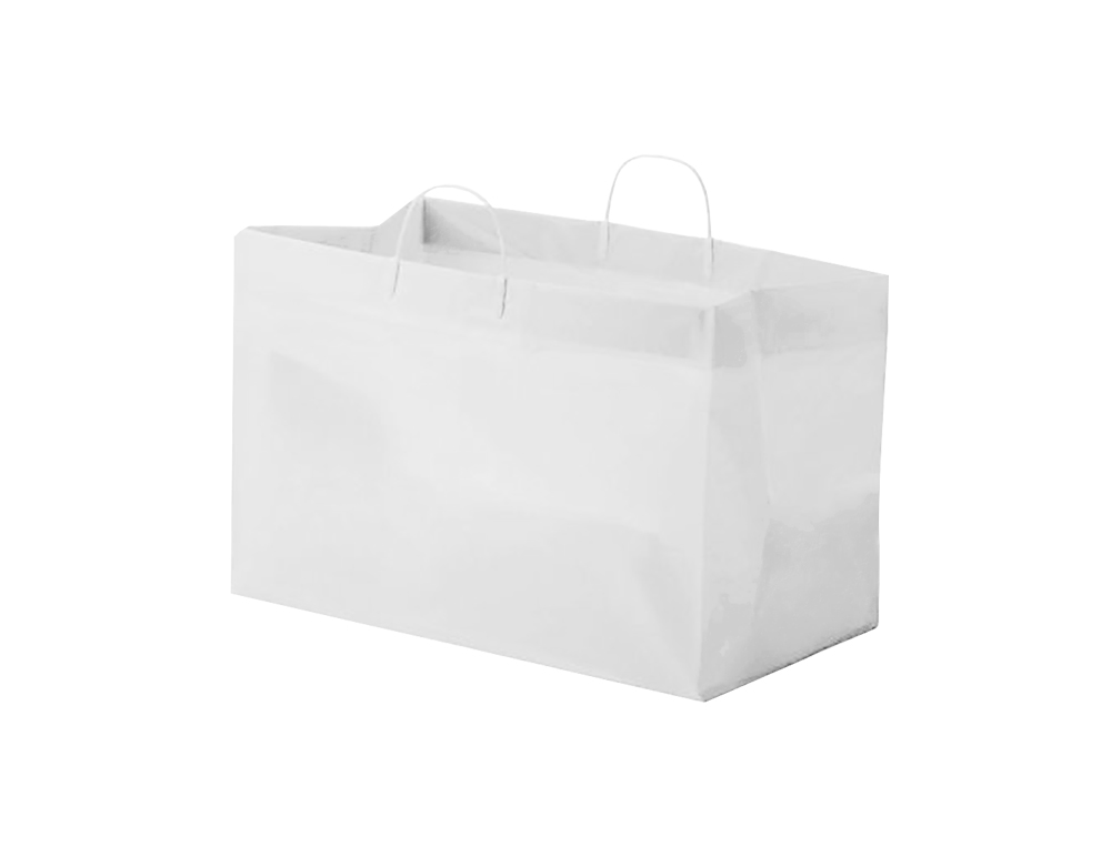 "Glopack Inc. - White 19""x10""x12""x10"" Plastic Catering Bag SCSLWTQD"