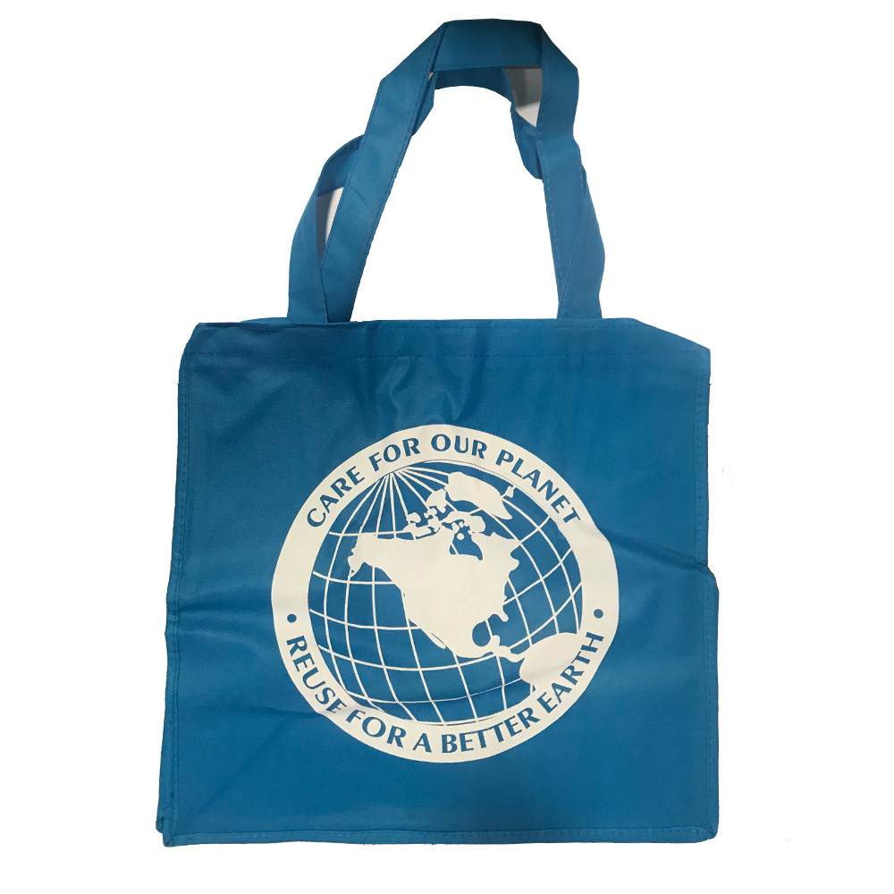 "Blue 14""x7 Care For Our Planet Prime Totes Bag PP-NWBLUE"