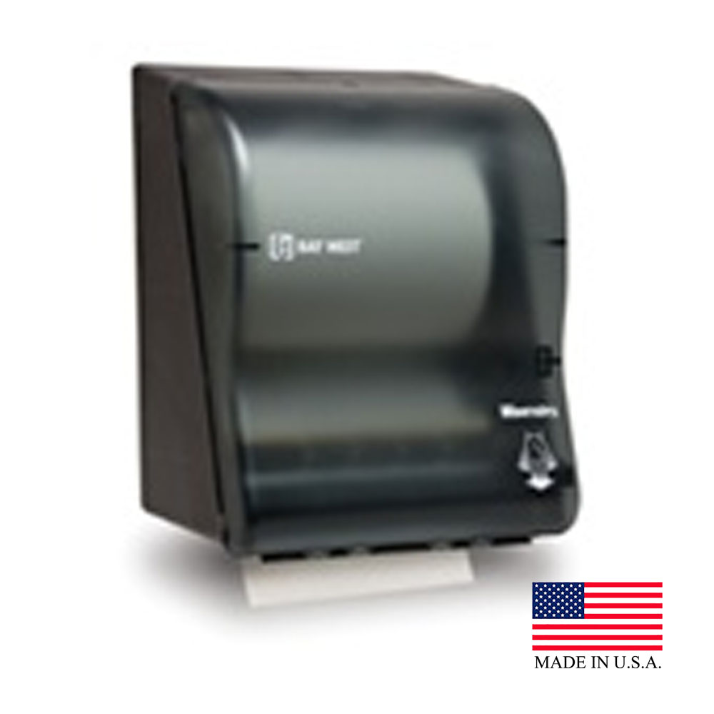 Wausau Smoke Silhouette Wave'n Dry Electronic Touch Free Battery Dispenser 80010