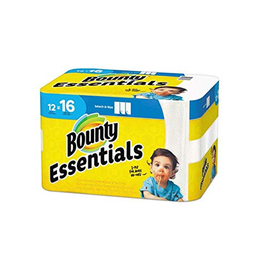 "Procter & Gamble - Bounty Essentials 9/10""x11"" 2 ply 83 Sheets Select-A-Size Paper Kitchen Roll"