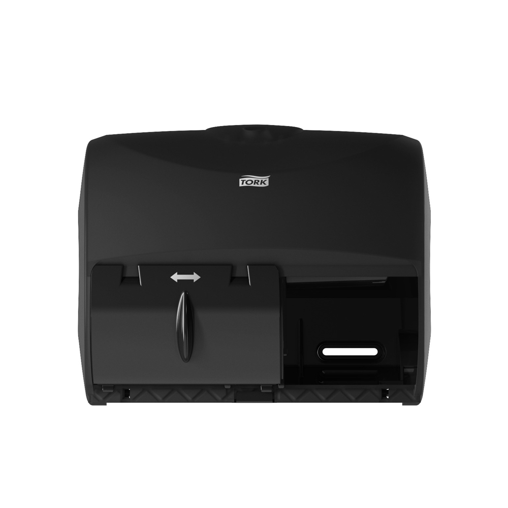 Essity Professional Black Tork Twin Bathroom Tissue Dispenser For Opticore 565728