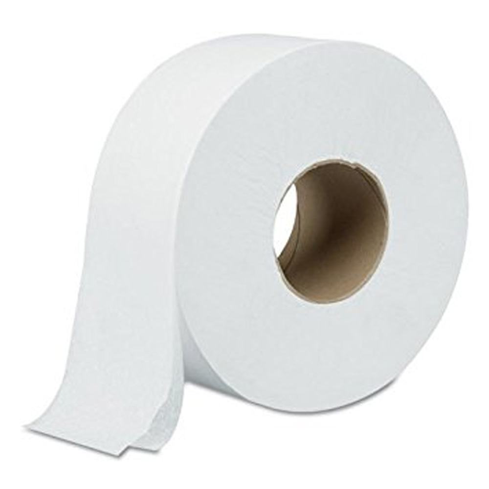 Atlas Paper White 1000' / 2 Ply Green Heritage Jumbo Roll Bathroom Tissue 1000 Sheet 700