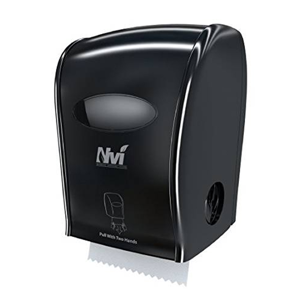 Solaris Paper Inc. - NVI Black Manual Hands Free  Towel Dispenser D68006
