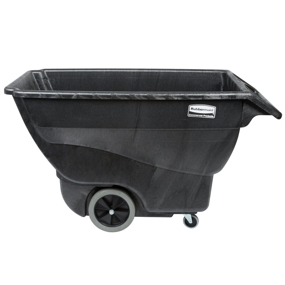 Rubbermaid Black 600lb 0.75 Cubic Yard Tilt Truck FG101100BLA
