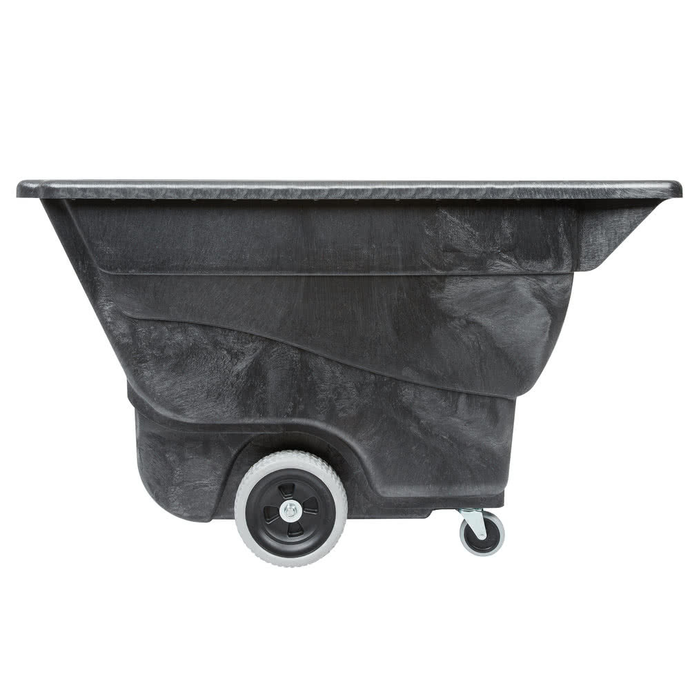 Rubbermaid Black 1/2 Cubic Yard Tilt Truck        FG9T1300BLA
