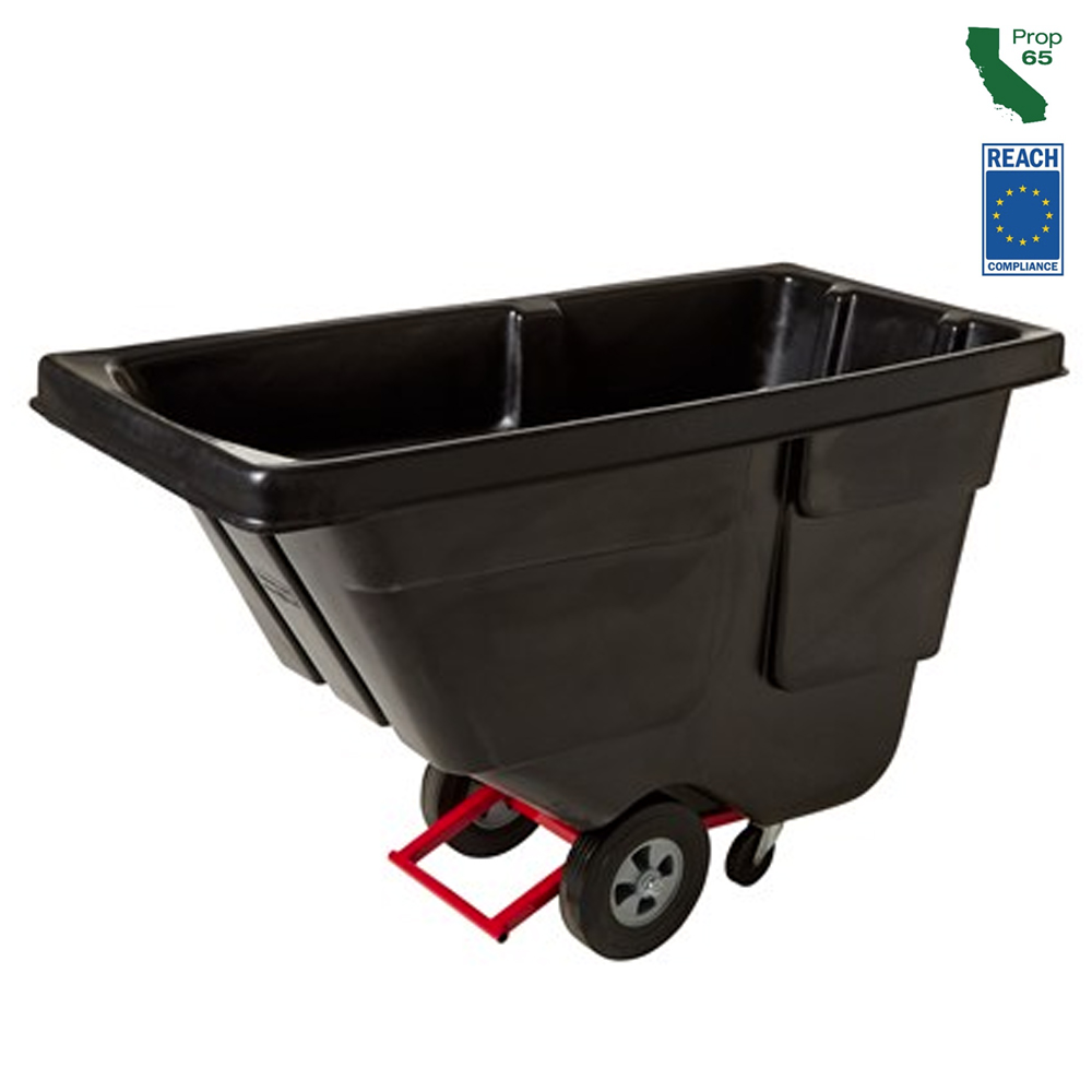 Rubbermaid Black 1/2 Yard Tilt Truck FG130400BLA