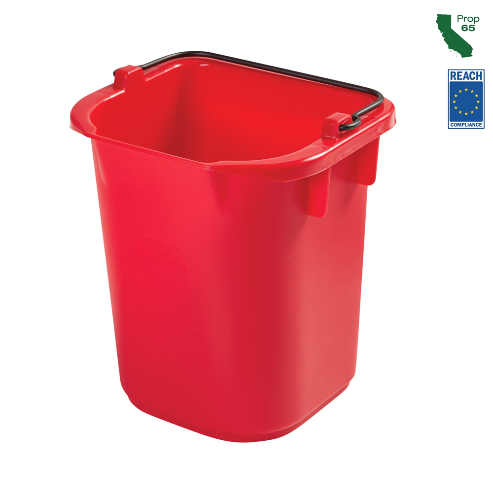 Rubbermaid Commercial - Red 5 Qt Disinfectant Pail 1857375