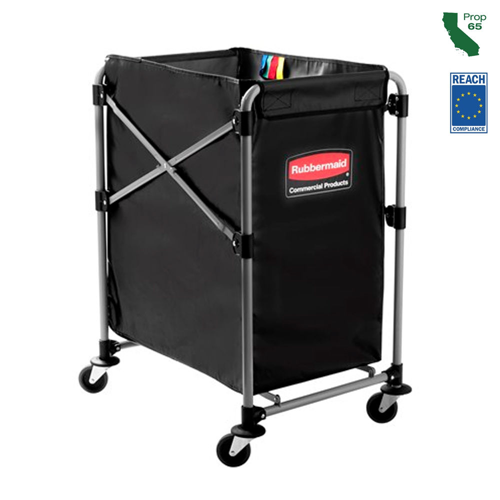 Rubbermaid Black 8 Bushel Collapsible X-cart 1881750