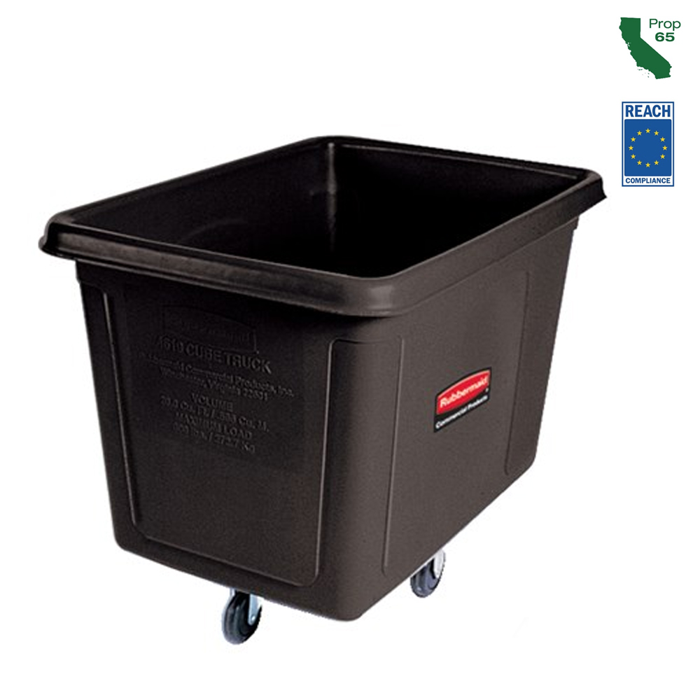 Rubbermaid Commercial - Black 20 Cubit Ft. Bulk Cub Truck (600 lb.) FG461900BLA