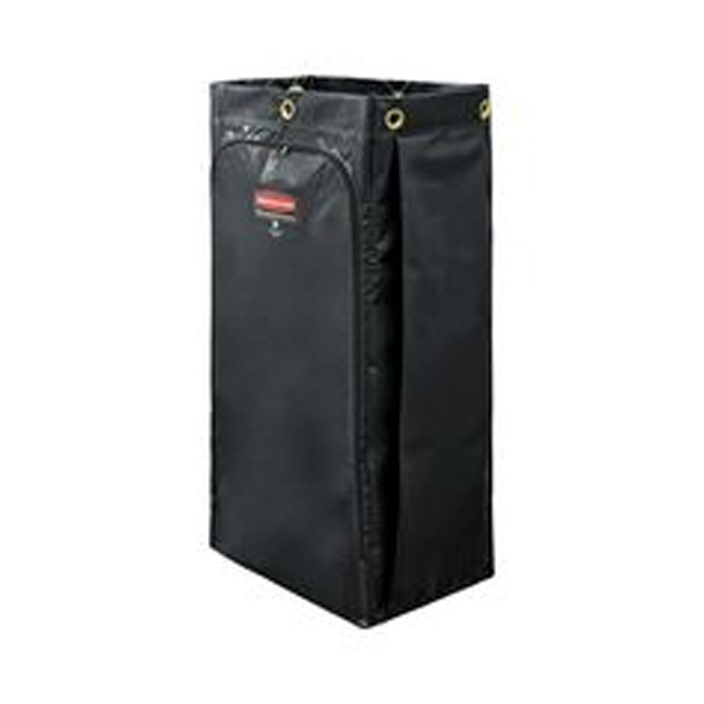 Rubbermaid Commercial - Black 34 Gallon Executive Janitorial Cleaning Cart Vinyl Bag 1966886
