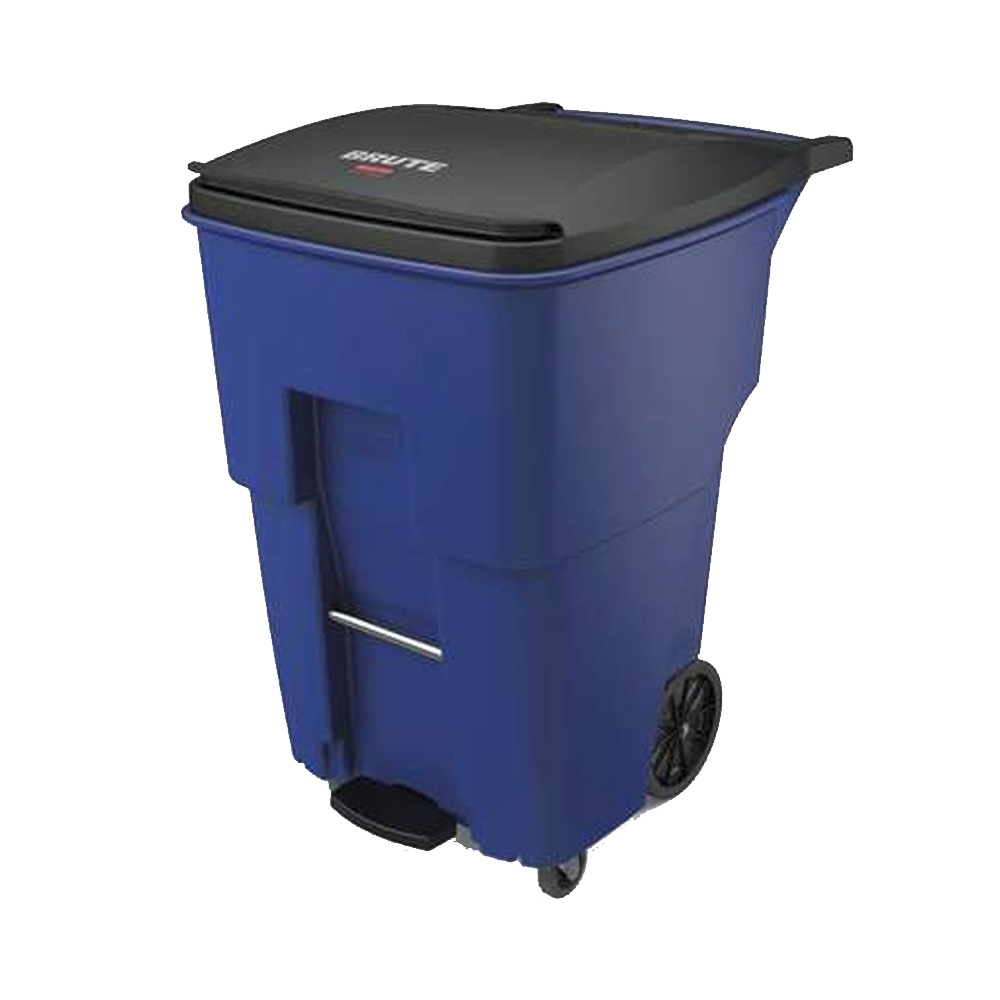 Rubbermaid Blue 95 Gallon Sep Roll Container 1971999