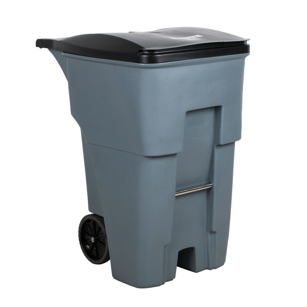 Rubbermaid Gray 95 gallon Rollout Standard Container With Lid FG9W2200GRAY