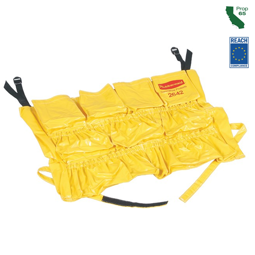 Rubbermaid Commercial - Brute Yellow 12 Pocket Caddy Bag FG264200YEL