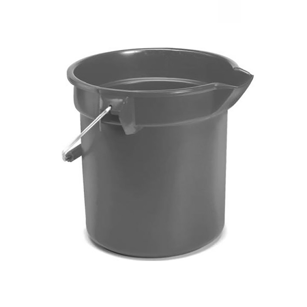 Rubbermaid Grey 10qt Round Bucket With Handle FG296300GRAY