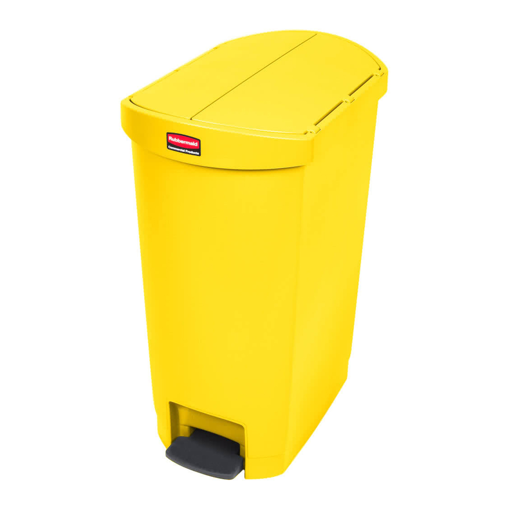 Rubbermaid Commercial - Slim Jim Yellow 13 Gallon Step-On Container 1883576