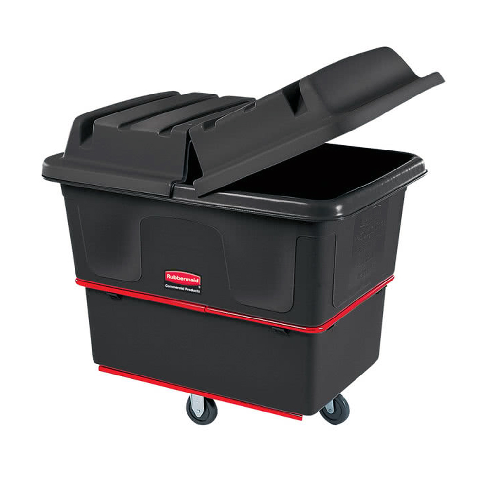 Rubbermaid Black 80 Cubic ft Tilt Truck With Wheels FG470800BLA