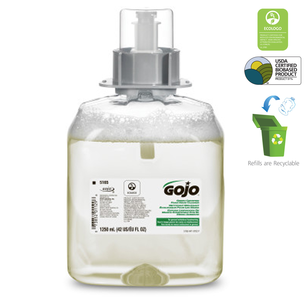 Gojo Ind. - 1250 ml Green Seal Foaming Hand Soap Refill 5165-03