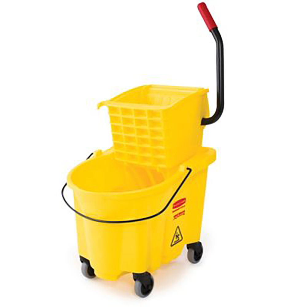 Rubbermaid Yellow 26 Qt Bucket & Wringer Combo FG748000YEL