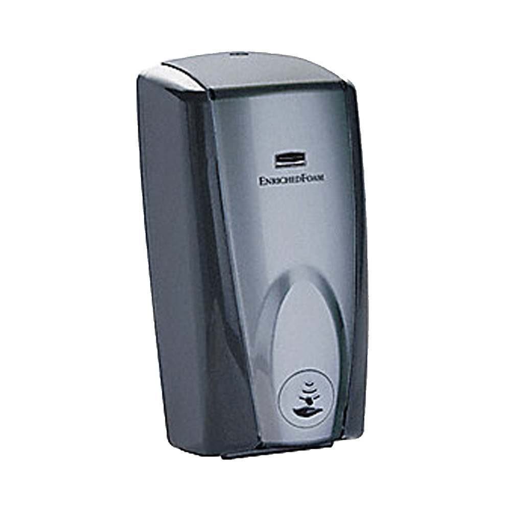 Rubbermaid Commercial - TC Black & Grey 1100 ml Automatic Foam Soap Wall Mount Dispenser FG7501