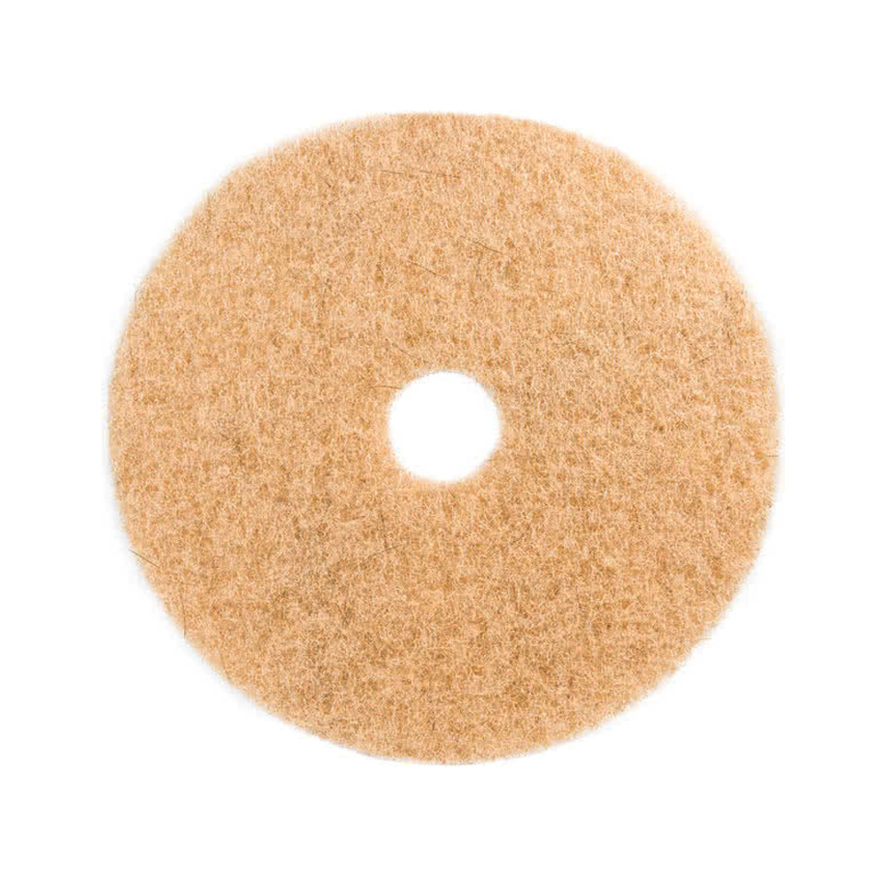 "3M Products Tan 17"" Natural Blend Scrubbing Floor Pad 3500"