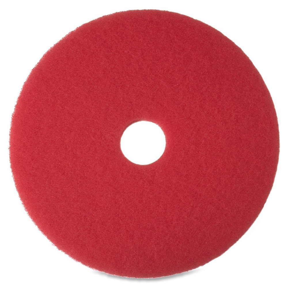 "3M Products Red 19"" Niagra Buffing Floor Pad 5100N"