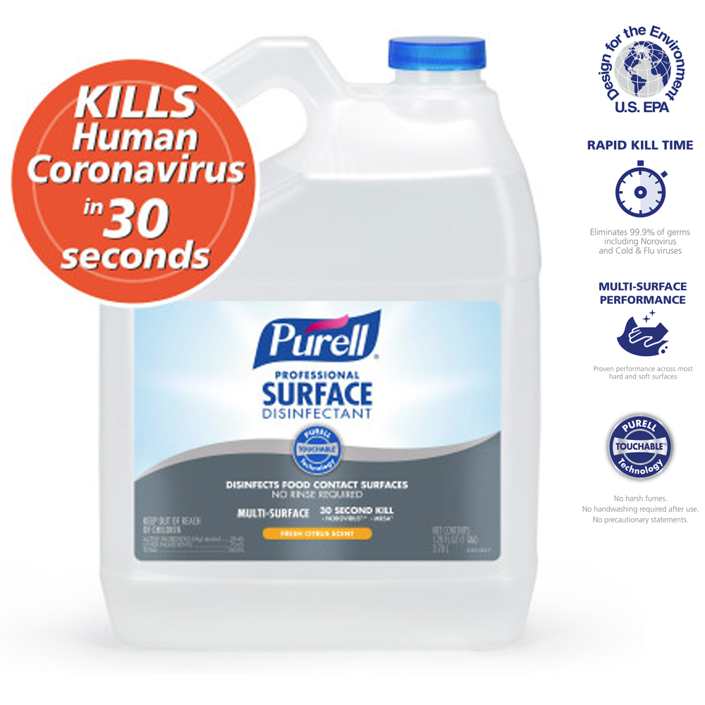 Gojo Ind. - Purell 1 Gallon Professional One Step Surface Disinfectant Citrus Scent 4342-04
