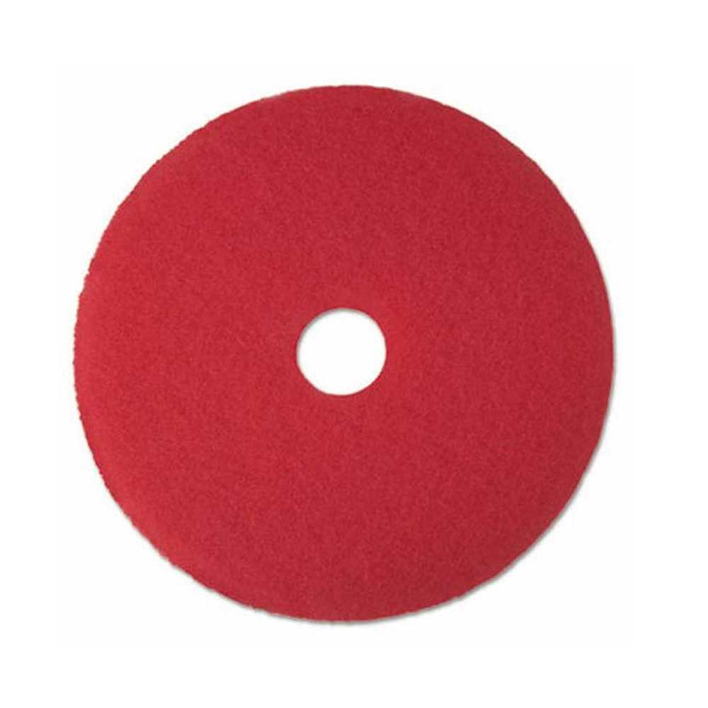 "3M Products Red 16"" Buffing Floor Pad 5100N"