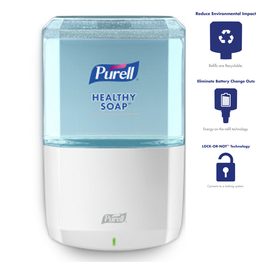 Gojo Ind. - Purell White Es8 Touch Free Hand Soap Dispenser (uses Item 365655/367702 Refill) 77